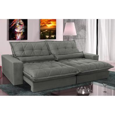 Chegou o Maravilhoso Sofá Retrátil e Reclinável Cama inBox Soft com Molas Ensacadas. O que o torna especial são assentos com molas ensacadas e espuma