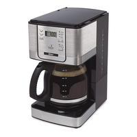Cafeteira Flavor Programável 12 Xícaras Prata Oster 220V A Cafeteira Flavor Programável Oster pode ser programada para ter seu café pronto no momento