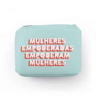 Bolsa de Medicamentos Mulheres Empoderadas Neoprene com Zíper