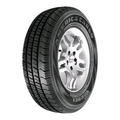 Pneu com desenhos que unem economia de combustível e durabilidade. Além de possuir linhas que ajudam no resfriamento do pneu, os pneus Tornel America