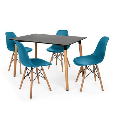 Kit Mesa Jantar Eiffel 120x80cm + 4 Cadeiras Charles Eames O Kit Mesa Jantar Eiffel 120x80cm + 4 Cadeiras Charles Eames são importantes itens para a s