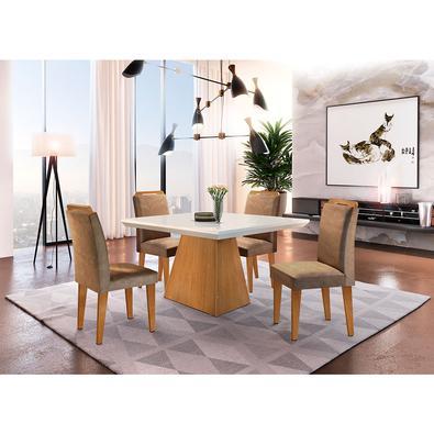 Sala de jantar Aida um produto 100 MDF, composto por peças de muito charme. É a opção perfeita para ambientes compactos que precisam de total aproveit