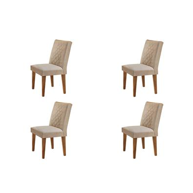 Complete sua sala de jantar com esse lindo Conjunto com 04 Cadeiras Milena . Conforto, elegância, deixara seu ambiente completo.