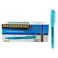 Prática e versátil com sua ponta chanfrada, a caneta marca texto Masterprint MP612 é ótima para marcar e destacar textos com traços mais grossos e tam