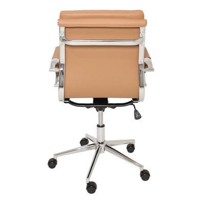Cadeira De Escritório Giratória Diretor Eames Confort CarameloPara quem deseja garantir mais conforto no dia a dia de trabalho e ainda dar um toque de