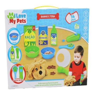 Brinquedo I Love My Pets - Banho E Tosa Multikids Br 1217