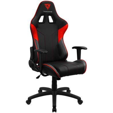 A Cadeira EC3 Thunderx3 é construída com a tecnologia única AIR Tech. Encosto ajustável até 180°, ajustes dos braços fixo e almofada para a coluna.