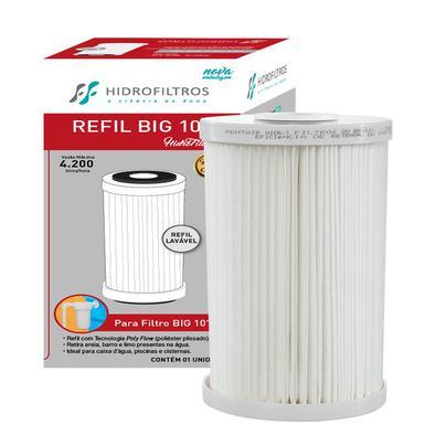 REFIL BIG 10Elemento Filtrante Plissado Para Ponto De Entrada. Reduzir a sujeira da caixa dágua como areia, barro e limo.