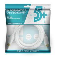 Cabo Displayport Info – Displayport + Displayport 1.2 – Branco – 5M