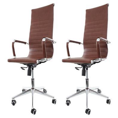 Cadeira Para Escritório Presidente Stripes Esteirinha Charles Eames EiffelA Cadeira De Escritório Presidente Charles Eames Eiffel Esteirinha Stripes é