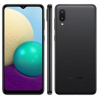Conheça um celular perfeita para todas as suas necessidades! O Galaxy A02 conta com um Infinity-V Display de 6,5 polegadas e 32GB de memória interna.