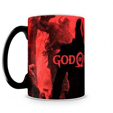 Caneca Mágica God Of War Vermelha  A caneca que está faltando na sua coleção :) Um produto geek feito para especialmente para você!  A caneca mágica é