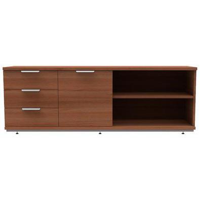 Este produto é ideal para home-office, escritórios e outros espaços da casa. Conta com 2 nichos que podem ser abertos ou fechados, com uma porta de co