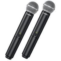 BLX288/SM58-M15Sistema vocal dual sem fio com dois SM58O Sistema Dual Vocal Sem Fio BLX288 / SM58 com dois SM58, o microfone vocal dinâmico cardioide