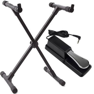 Pedal Sustain Para Teclado Piano + Suporte X