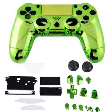 Carcaça Cromada para Controle Playstation 4 Completa ATENÇÃO: COMPATÍVEL COM OS MODELOS JDM-001, JDM-011 E JDM-020