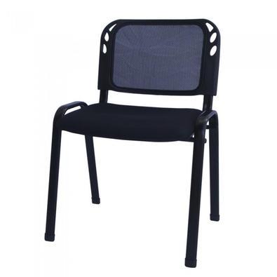 """Com design moderno e ergonômico, a """"Cadeiras Secretária em Tela Mesh Pelegrin Empilhável PEL-304SM"""" conta com estrutura em metal, resistente e durável"""