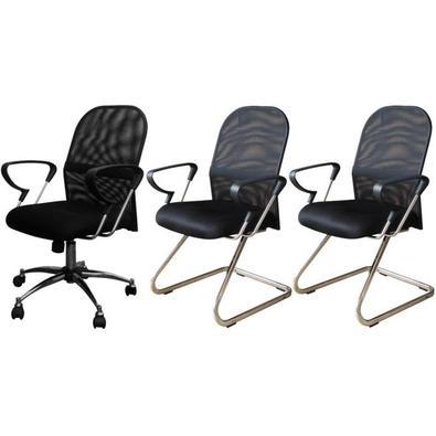Especificações da Cadeira Diretor:   Cadeira tipo diretor com encosto de altura média  Base giratória em aço cromado com cinco rodizios  Função de aju