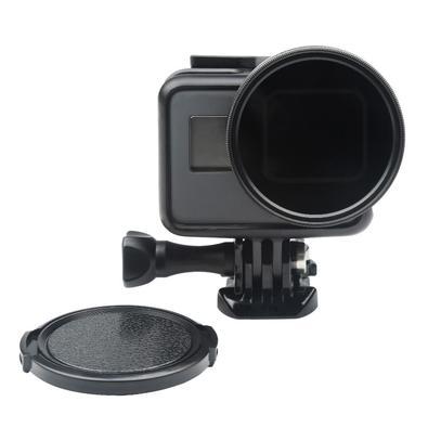 O Filtro CPL 52mm com tampa da Lente para câmera GoPro Hero 5/6/7 Black tem a função de: - Remover imperfeições de fotos e vídeos, - Reduzir drasticam