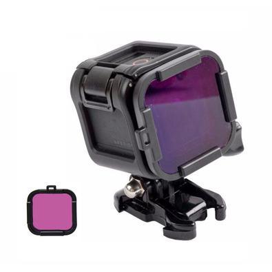 O Filtro Magenta ajuda você a capturar cores tropicais vibrantes enquanto mergulha. Nosso filtro magenta ajuda a melhorar significativamente as cores