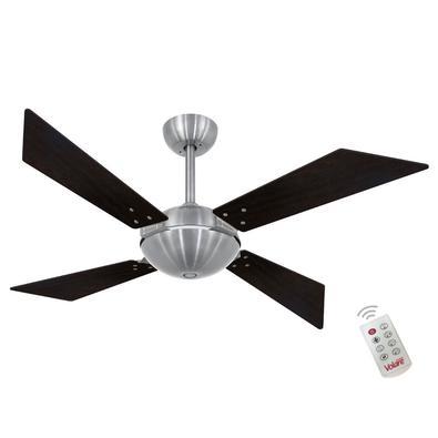 Ventilador De Teto Volare Escovado Tech Office Tabaco 220V e Controle Remoto Referencia: 60496 Os Ventiladores Volare são desenvolvidos com tecnologia