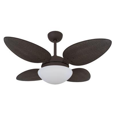 Ventilador De Teto Volare Marrom Corten Vr42 Petalo Palmae Tabaco 220V Referencia: 63158 Os Ventiladores Volare são desenvolvidos com tecnologia de po