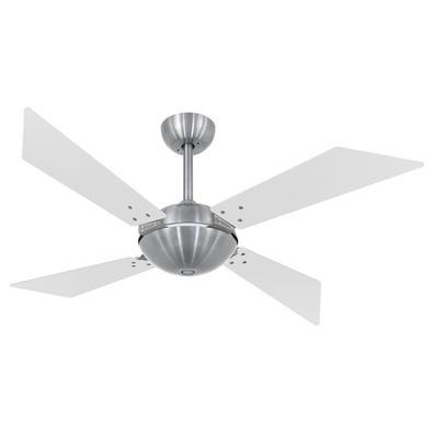 Ventilador De Teto Volare Escovado Tech Office Branco 127V Referencia: 60481 Os Ventiladores Volare são desenvolvidos com tecnologia de ponta e design