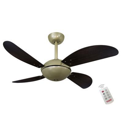 Ventilador De Teto Volare Gold Fly Office Tabaco 127V e Controle Remoto Referencia: 60473 Os Ventiladores Volare são desenvolvidos com tecnologia de p