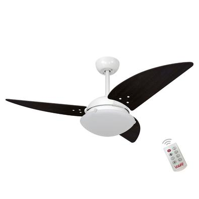 Ventilador De Teto Volare Branco Fosco Class Tabaco 127V e Controle Remoto Referencia: 60388 Os Ventiladores Volare são desenvolvidos com tecnologia d