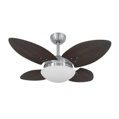 Ventilador De Teto Volare Escovado Vr28 Mini Petalo Palmae Tabaco 220V Referencia: 62635 Os Ventiladores Volare são desenvolvidos com tecnologia de po