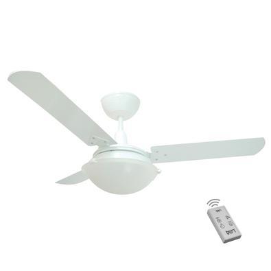 Ventilador Unions Branco 220V 3 Pás Branca e Controle O Ventilador Unions é excelente para refrescar sua casa! Acompanha Controle Remoto. Com design m