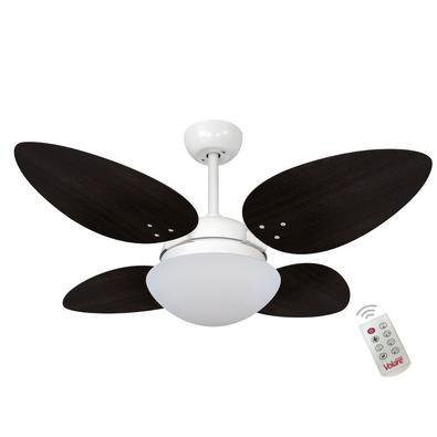 Ventilador De Teto Volare Branco Fosco Vr42 Petalo/4 Tabaco 220V e Controle Remoto Referencia: 63100 Os Ventiladores Volare são desenvolvidos com tecn