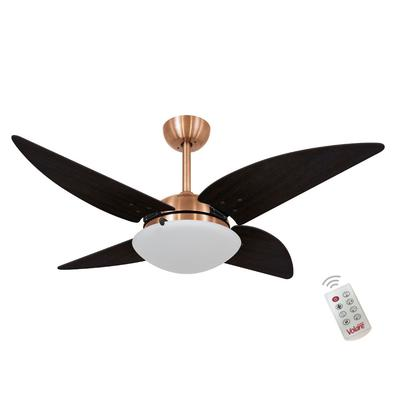 Ventilador De Teto Volare Cobre Quad Tabaco 127V e Controle Remoto Referencia: 60134 Os Ventiladores Volare são desenvolvidos com tecnologia de ponta