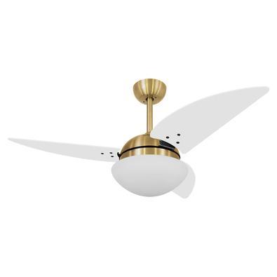 Ventilador De Teto Volare Dourado Vr42 Class Branco 220V Referencia: 60131 Os Ventiladores Volare são desenvolvidos com tecnologia de ponta e design e