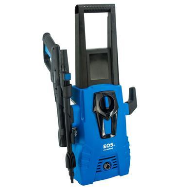 A lavadora de pressão EOS possui 1600W de potência e mais de 1700psi de pressão de trabalho, sendo o equipamento ideal para limpeza de garagens, pisos