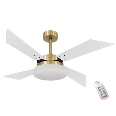Ventilador De Teto Volare Dourado Vr50 Tech Branco 127V e Controle Remoto Referencia: 60028 Os Ventiladores Volare são desenvolvidos com tecnologia de