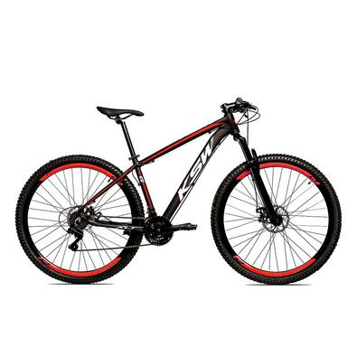 A KSW é uma bicicleta Aro 29 com freio a disco desenvolvida para passeios e um bom começo nas primeiras trilhas da categoria MTB. -Quadro em alumínio