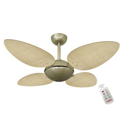 Ventilador De Teto Volare Gold Office Petalo Palmae Natural 127V e Controle Remoto Referencia: 60629 Os Ventiladores Volare são desenvolvidos com tecn