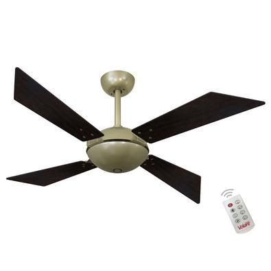 Ventilador De Teto Volare Gold Tech Office Tabaco 220V e Controle Remoto Referencia: 60490 Os Ventiladores Volare são desenvolvidos com tecnologia de