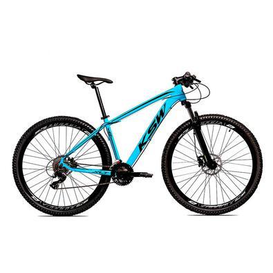 """""""A KSW é uma bicicleta Aro 29 com freio a disco desenvolvida para passeios e um bom começo nas primeiras trilhas da categoria MTB.Quadro em alumínio 6"""