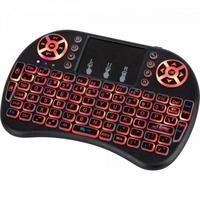 Tenha tudo disponível na palma da sua mão, com o Mini teclado Wireless Iluminado e mouse touch integrado você pode controlar o seu Tv Box, Video Game,