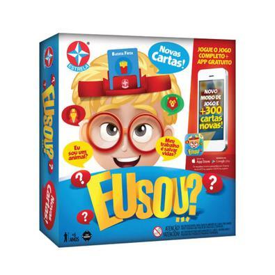 Com o jogo Eu Sou...?a brincadeira ficará ainda mais emocionante, o jogo vem com 50 cartas, uma ampulheta e 6 alças de cartas para o seu filho brincar
