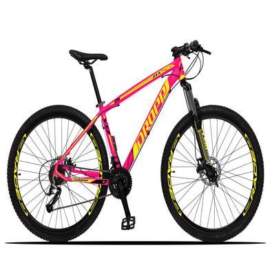 A Mountain Bike Dropp Z3-X é ideal para quem quer fazer trilhas com segurança pois já possui freios com sistema hidráulico de alto poder de frenagem e