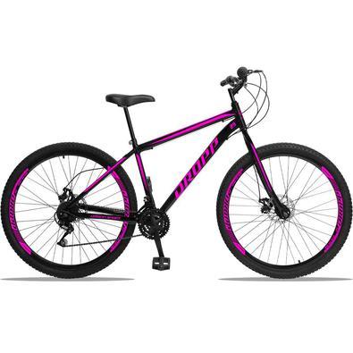 Dropp Sport é nossa Mountain Bike com quadro em aço carbono, além de ter um ótimo custo benefício o quadro é super resistente. Possui 21 combinações d