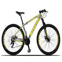 A Mountain Bike Dropp Z3-X é ideal para quem quer fazer trilhas com segurança pois já possui freios com sistema mecânico de alto poder de frenagem e c