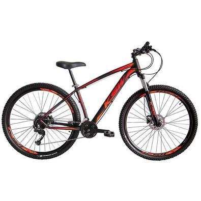 Bicicleta ideal para uso urbano e trilhas leves.,QUADRO : 29´´ Alumí,nio 6061SUSPENSÃ,O : Curso de 80mm sem travaCAIXA DE DIREÇ,Ã,O : Semi IntegradaG