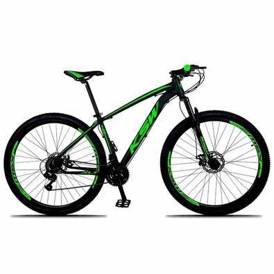 """""""Bicicleta ideal para uso urbano e trilhas leves.QUADRO : 29´´ Alumínio 6061SUSPENSÃO : Curso de 80mm sem travaCAIXA DE DIREÇÃO : Semi IntegradaGUIDÃ"""