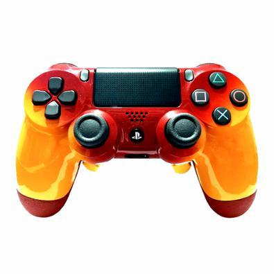 Controle Playstation 4, Dualshock 4, Competitivo, Iron Red - Os Controles YESGAME oferecem otimização e agilidade em confrontos diretos em jogos de ti