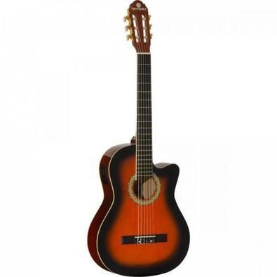 Um violão Acústico Clássico feito com madeiras nobres e acabamento especial HARMONICS. Simples, porém feito para experiências musicais inigualáveis, o
