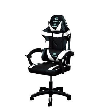 Cadeira gamer hoopson reclinável e giratoria branco/preto - hp-cg-506confortocom seu confortável revestimento acolchoado, a cadeira hoopson hp-cg-505